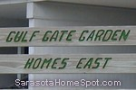 sign in front of Gulf Gate Garden Homes in Sarasota