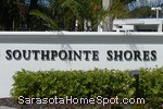 sign in front of Southpointe Shores in Sarasota