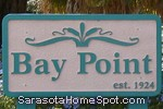 sign in front of Bay Point in Nokomis