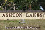 sign in front of Ashton Lakes in Sarasota