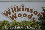 sign in front of Wilkinson Woods in Sarasota