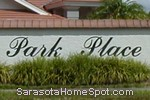 sign in front of Park Place in Sarasota