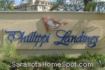 sign in front of Phillippi Landings in Sarasota
