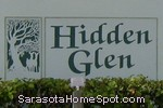 sign in front of Hidden Glen in Sarasota