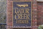 sign in front of Gator Creek Estates in Sarasota